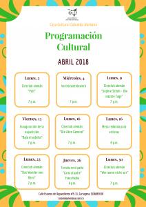 Copia de Programación cultural Abril 2018