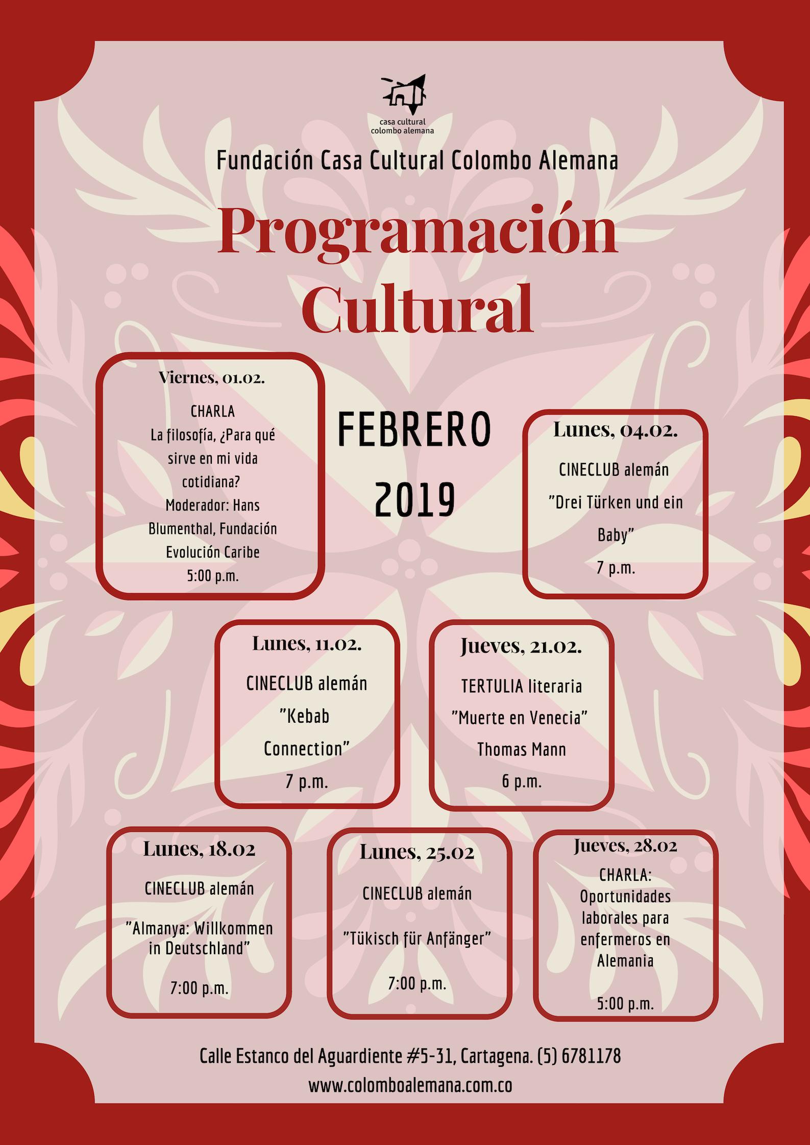 02_Programación Cultural Febrero 2019 actualizada.