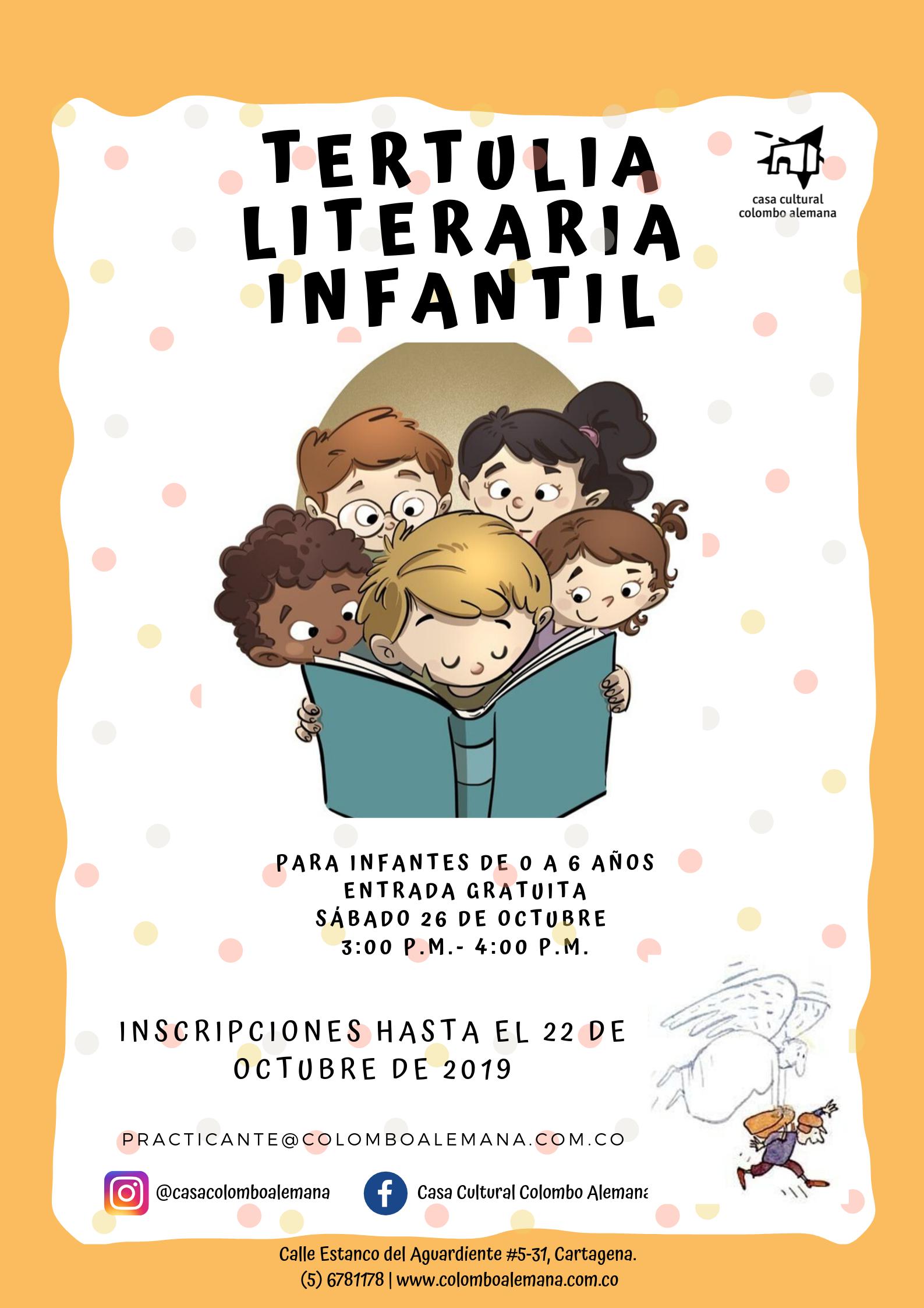 TERTULIA LITERARIA INFANTIL- Octubre