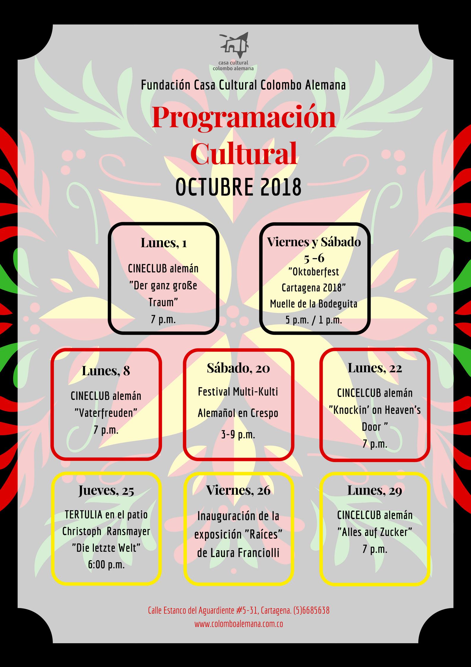 10_Programación Cultural Octubre 2018