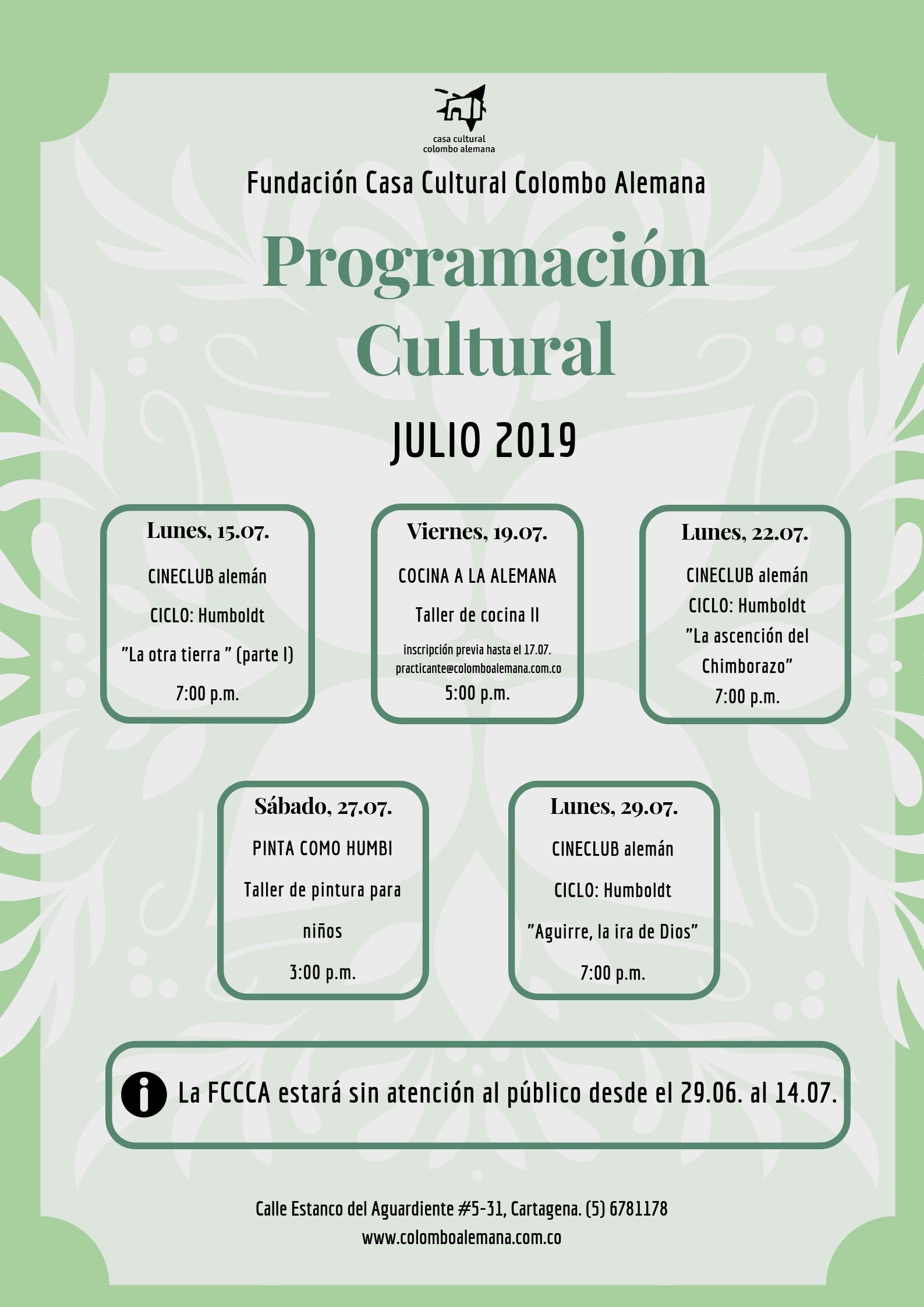 07_Programación Cultural Julio 2019