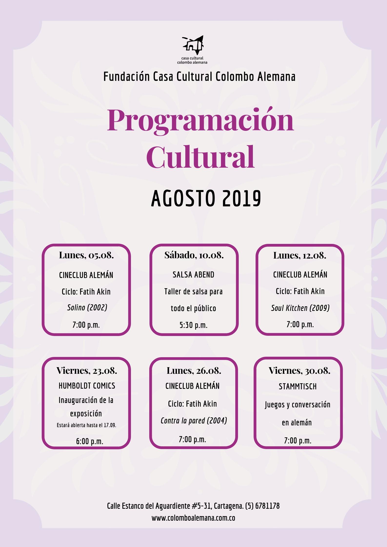 08_Programación Cultural Agosto 2019