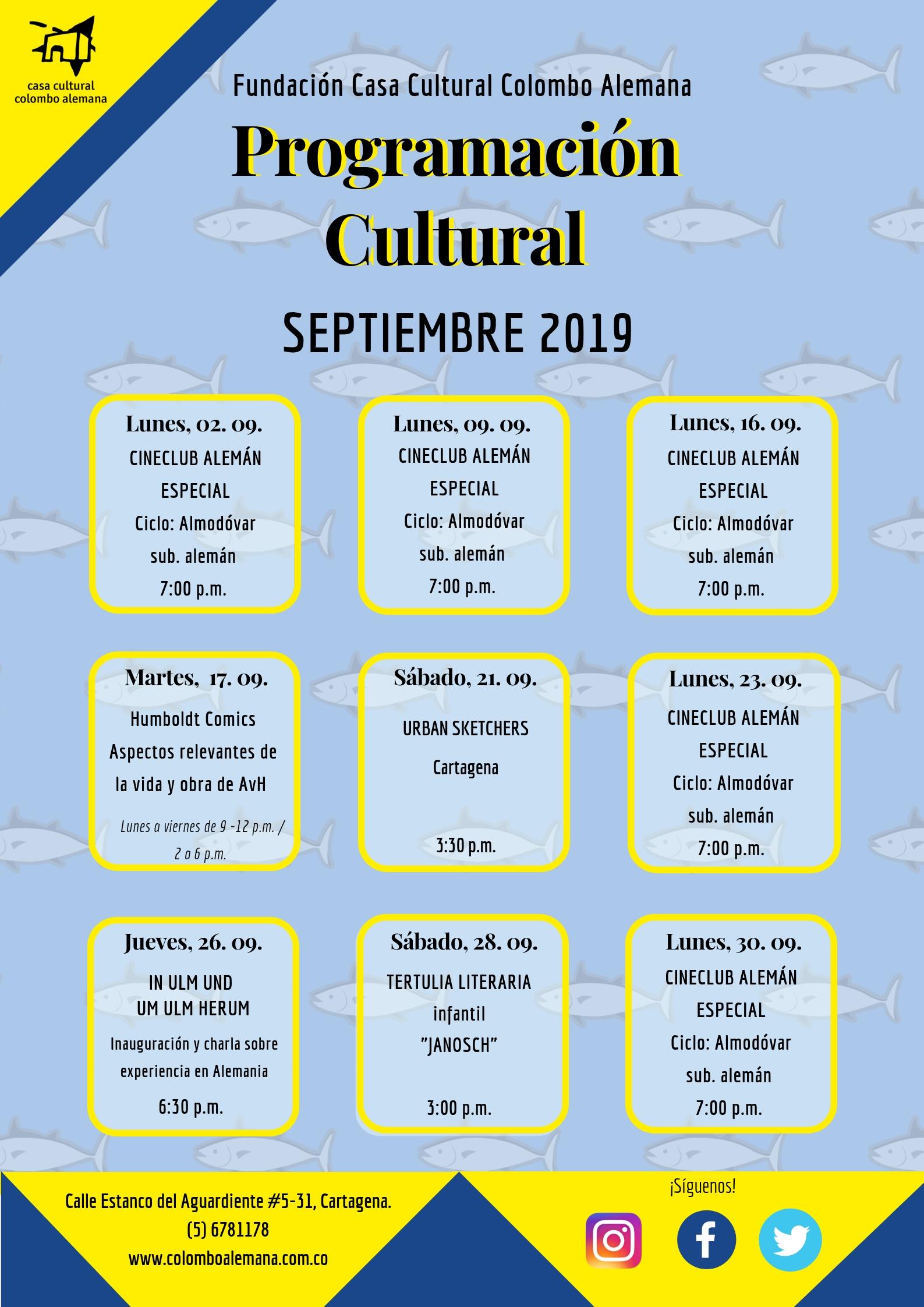 09_Programación Cultural Septiembre 2019